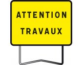 Panneau indication KC1 attention travaux TALIAPLAST