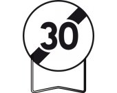 Panneau signalisation prescription B33 fin d'interdiction 30km/h TALIAPLAST