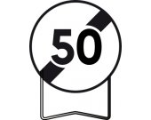 Panneau signalisation prescription B33 fin d'interdiction 50km/h TALIAPLAST