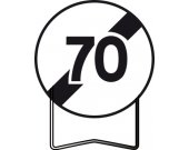Panneau signalisation prescription B33 fin d'interdiction 70km/h TALIAPLAST