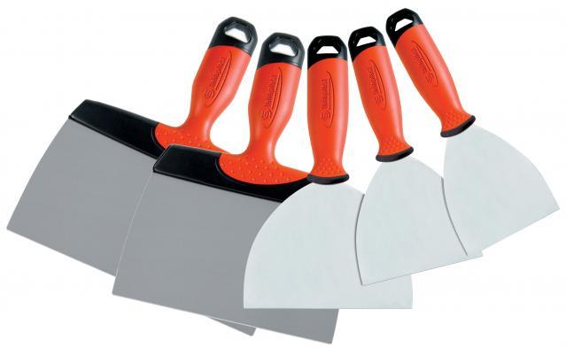 ensemble 5 couteaux enduire inox taliaplast rue du. Black Bedroom Furniture Sets. Home Design Ideas